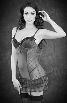 #Sexy Lingerie With Garters