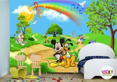 Fototapet Copii Disney Mickey and Friends - VIODesign Mickey And Friends, Disney Mickey, Pikachu, Family Guy, Fictional Characters, Art, Photo Wallpaper, Art Background, Kunst