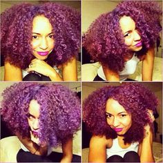 Absolutely love purple natural hair...I know I could rock it too buuuuuuut no =/