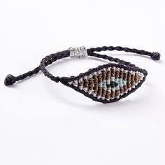 ACCESSORIES :: Tatiana Choremi, All Seeing Eye Classic bracelet black, silver & brown