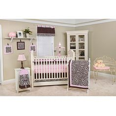 Pam Grace Creations Zara Zebra 10pc Nursery in a Bag Crib Bedding Collection - Value Bundle