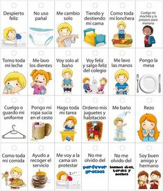 rutinas niños horarios ✿ Spanish Learning/ Teaching Spanish / Spanish Language / Spanish vocabulary / Spoken Spanish ✿ Share it with people who are serious about learning Spanish! Education Positive, Kids Education, Spanish Lessons, Teaching Spanish, Spanish Vocabulary, Pre School, Toddler Activities, My Children, Kids And Parenting