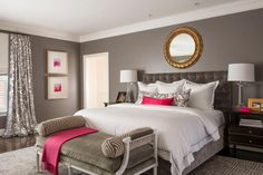 HGTV loves the unexpected contemporary color scheme and patterns in this…