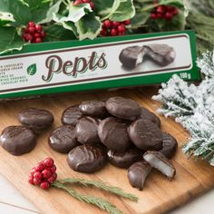 Make your holiday party the star of the show with our Delecto Peppermint Creams! Holiday Parties, Holiday Gifts, Gifts For Him, Peppermint, Stuffed Mushrooms, Candy, Make It Yourself, Holidays, Chocolate