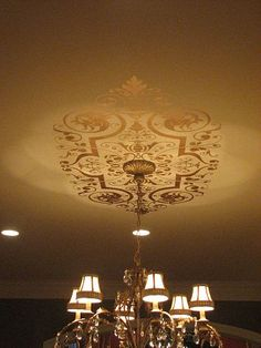 Painted ornamental ceiling design.