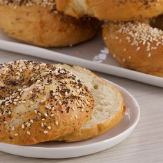 Try this Classic Bagels recipe by Chef Anna Olson. This recipe is from the show Bake With Anna.