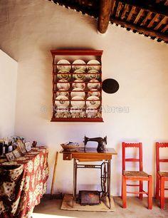 Casa tradicional de Santa Susana. Alentejo, Portugal