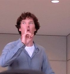 Oh my God! Click this gif. Benedict has the power.. But he's all surprised when everyone shuts up. He's priceless.