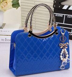 brand bag cute tote New Fashion Designer Large PU Leather Tote Shoulder Bag Handbag Ladies Messenger chain plaid A40-375