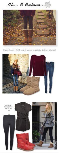 Looks para o Outono com botas estilo Ugg da marca Cravo e Canela. #outono…