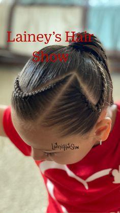 White Girl Braids, Little Girl Braids, Girls Braids, Braids For Kids, Girl Hair Dos, Baby Girl Hair, 50 Hair, Kids Curly Hairstyles, Braided Ponytail Hairstyles