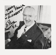 Stan Laurel Autographed Photo 1963