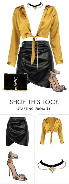 """Untitled #1852"" by iammelissa ❤ liked on Polyvore featuring Boohoo, Gianvito Rossi and Yves Saint Laurent"