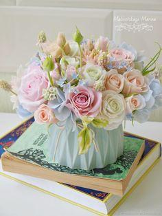 Купить Букет в мятных и пудровых тонах. Цветы из глины - мятный, букет из глины, стильный букет