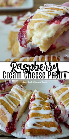 Cream Cheese Pastry is a delicious pastry filled with cream cheese and raspberries. Desserts Raspberry Cream Cheese PastryRaspberry Cream Cheese Pastry is a delicious pastry filled with cream cheese and raspberries. Raspberry Pastry Recipes, Puff Pastry Desserts, Raspberry Desserts, Puff Pastry Recipes, Köstliche Desserts, Delicious Desserts, Dessert Recipes, Pastries Recipes, Raspberry Sauce