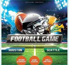 Football Party Or Event Flyer  Party Flyer Templates For Clubs