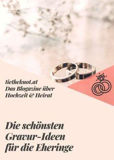Die schönsten Gravur Ideen für die Eheringe Ring Verlobung, Marry Me, Wedding Planning, About Me Blog, How To Plan, Bride, Weddings, Party, Ideas