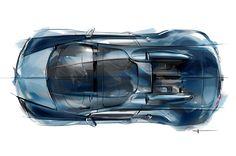 Jean-Pierre Wimille Special Edition Bugatti Veyron Concept Sketch