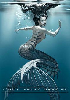 Striped mermaid repinned by www.BlickeDeeler.de