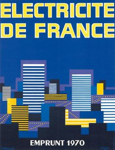 Electricité de France / Emprunt 1970 - illustration de Villemot & Tauzin -