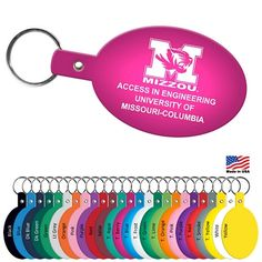 Promotional Oval Flexible Key Fob #summer #keychains #advertising | Customized Flexible Key Tags
