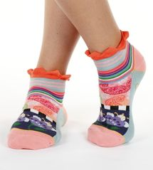 Paisley stripe seriously silly cotton ankle socks by Dub & Drino