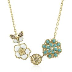 Jewellery - Paris gold and turquoise necklace
