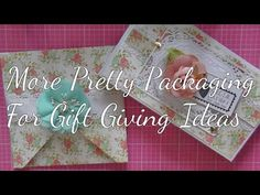 More Pretty Packaging Ideas For Gift Giving Pretty Packaging, Packaging Ideas, Giving, Gift Ideas, Youtube, Gifts, Wrap Gifts, Crates, Presents