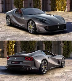 Ferrari 812 GTS is Most Powerful Production Convertible in the World, Based on the Superfast Sexy Cars, Hot Cars, Super Sport Cars, Exotic Sports Cars, Fancy Cars, Best Luxury Cars, Performance Cars, Amazing Cars, Custom Cars