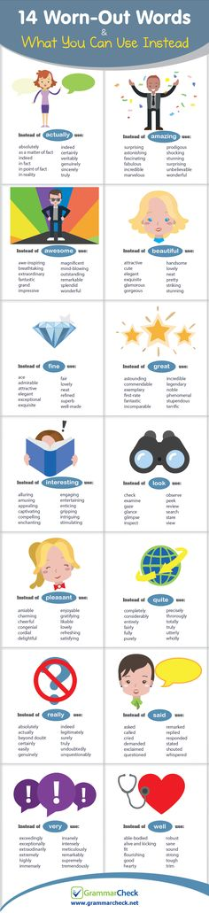 14 Worn-Out Words & What You Can Use Instead (Infographic)