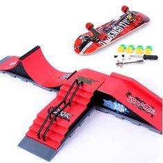 DIY Finger Skateboard Site Skate Park Ramp Parts Finger Board Site Ultimate Sports         Description: Material: ABS Size: (L X W X H ) Package: 28cm x 18cm x 10.5cm / 11'' x 7.1'' x 4.1'' A : 23.5CM X 10CM X 8.5CM / 9.3'' X 3.9'' X 3.3'' B :...