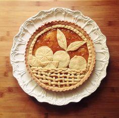 Come decorare le crostate, crostata in pasta frolla con marmellata di arance