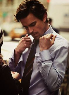 Matt Bomer's style on White Collar is influenced by the power suits of the last…