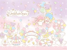 © little twin stars my melody pastel marshmallow world . Sanrio Characters, Cute Characters, Stars Wallpaper, Hello Kitty Images, Pochacco, Star Images, Character Wallpaper, Kawaii Wallpaper, Sanrio Hello Kitty