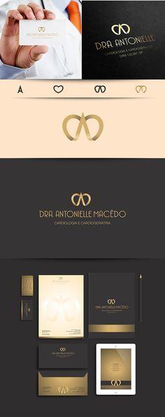 Logo e papelaria desenvolvidos em parceria com www.doctorvirtual.com.br para: Dra. Antonielle Macêdo Cardiologia e Cardiogeriatria Stationary Branding, Stationary Design, Logo Branding, Branding Design, Logos, Foil Business Cards, Real Estate Business Cards, Business Branding, Business Card Design