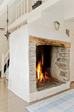 There is nothing like a real fireplace :)