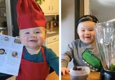 Chef Goes Viral With Adorable Cooking Lessons. Chicken Penne, Sausage Spaghetti, Zucchini Ribbons, Little Chef, Meal Delivery Service, Son Love, Cooking Classes, Kobe, Cute Kids