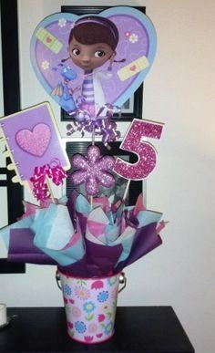 Doc McStuffins, centerpiece shellysdecor4you@gmail.com #Birthdays #BabyShowers #Graduations etc...