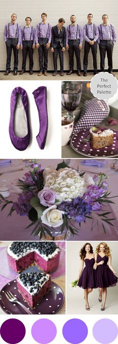 Shades of Purple! http://www.theperfectpalette.com/2012/09/wedding-colors-i-love-plum.html#