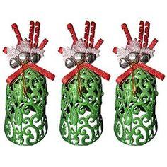 Mini Arvore de Natal Decoracao Natalino Kit com 3 Unidades
