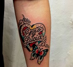 Heart and Butterfly Tattoo done at LTW Tattoo Barcelona #ltwtattoo #norteone #norte #tattoo #heart #butterfly