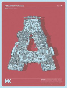 Mekkanika Typeface / Riccardo Sabatini | Design Graphique