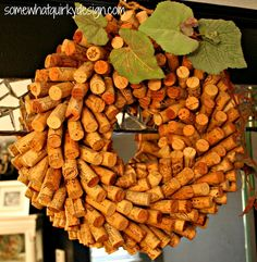 I knew there was a reason why I collected my corks.  crafts-with-wine-cork-diy-wreath.jpg 578×592 pixels