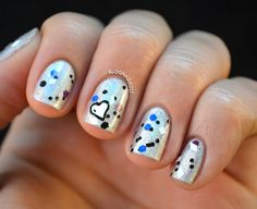 Glitter and Nail Art: Day 6 nails