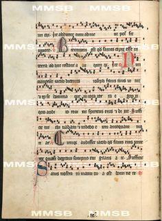 Antiphonarium Cisterciense. - Antiphon Queen Elizabeth Richensa. Date 1317 Sig: R 600  Folio 90v