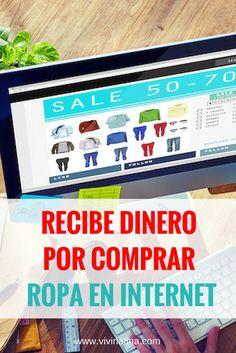 Dinero por comprar ropa y otras cosas en Internet. Un programa gratuito y super reconocido. Todo el mundo lo está usando.