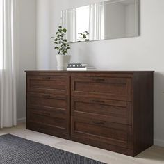 SONGESAND Kommode 6 skuffer - brun - IKEA