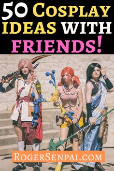 Are you looking for some cosplay ideas for groups? Can't decide which series you guys should cosplay from? Well then, this article is for you.  In this post, I will show you 50  cosplay ideas for groups!  #cosplay #cosplayideas #cosplaytips Easy Cosplay, Video Game Cosplay, Cosplay Ideas, Final Fantasy Cosplay, Final Fantasy X, Female Cosplay, Marvel Cosplay, Fire Emblem Characters, Marvel Characters