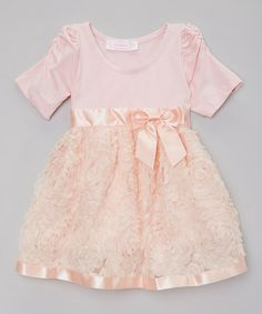 Loving this Peach Bow Dress - Infant on #zulily! #zulilyfinds