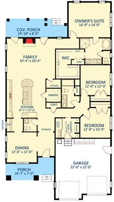 house plans Handsome One Story Craftsman House Plan - House Plans One Story, Cottage House Plans, Best House Plans, Craftsman House Plans, Dream House Plans, Small House Plans, House Floor Plans, Story House, Dream Houses